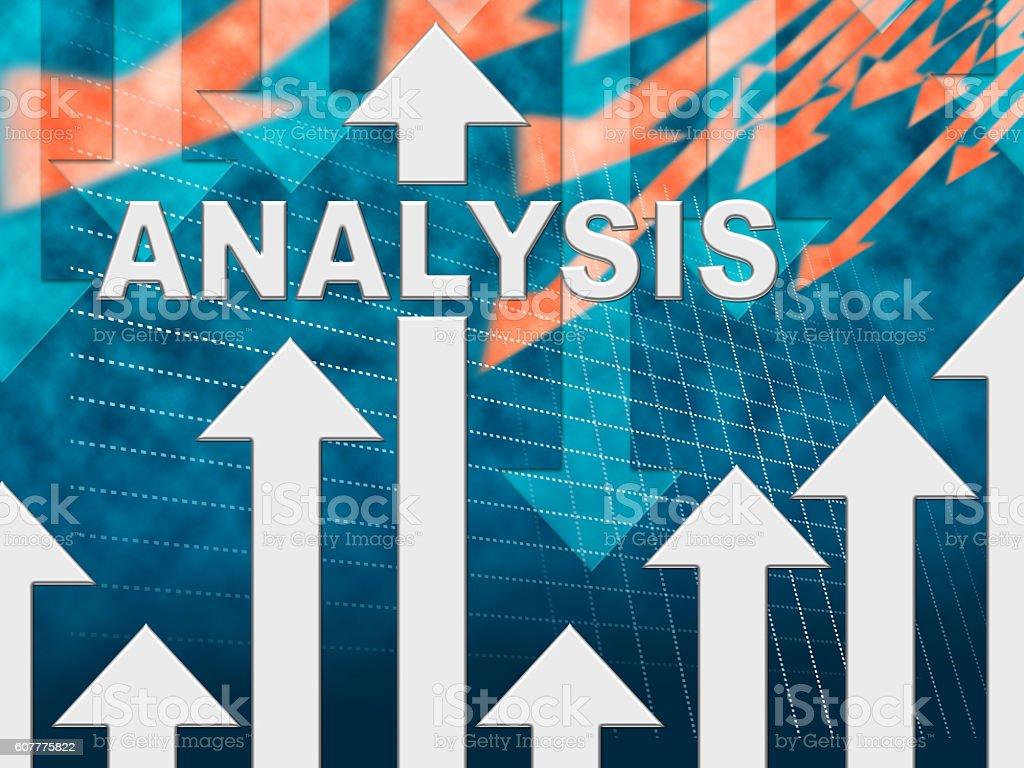 Analysis Graph Shows Data Analytics And Graphic stock photo