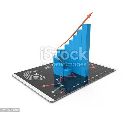 istock Analysis of financial data in charts 521502882
