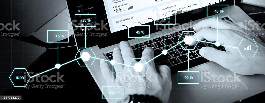 Analysis Statistic Information Percentage Economy Concept royalty-free stock photo