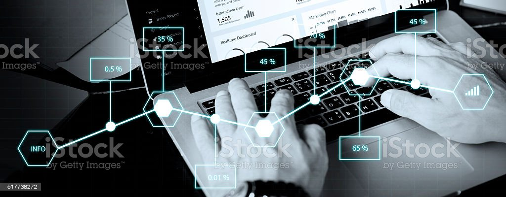 Analysis Statistic Information Percentage Economy Concept stock photo