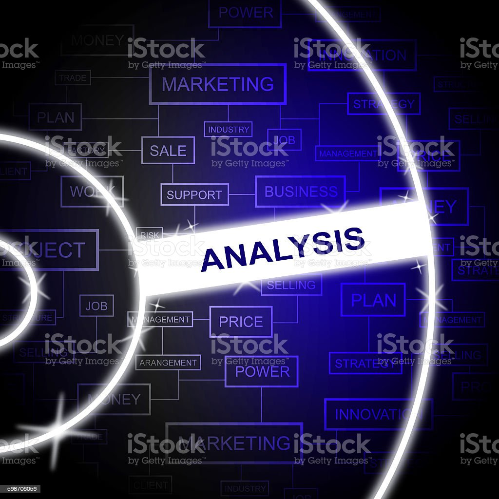 Analysis Word Means Research Investigation And Analytics stock photo