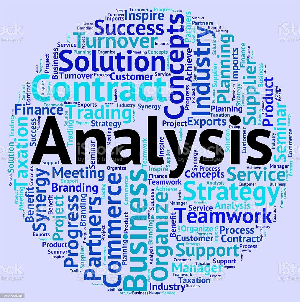 Analysis Word Shows Data Analytics And Words stock photo