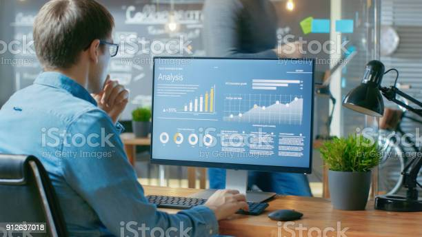Analyst works on a personal computer showing statistics graphs and picture id912637018?b=1&k=6&m=912637018&s=612x612&h=a 1x3zcjumfgh6ku0dfbbxraqszcxxwduhqvo6veata=