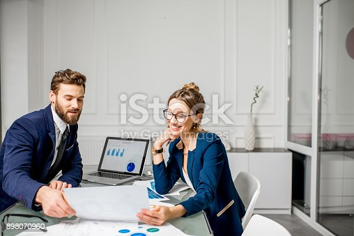 istock Analytic managers team working at the office 898070960