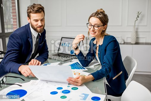 istock Analytic managers team working at the office 898071010