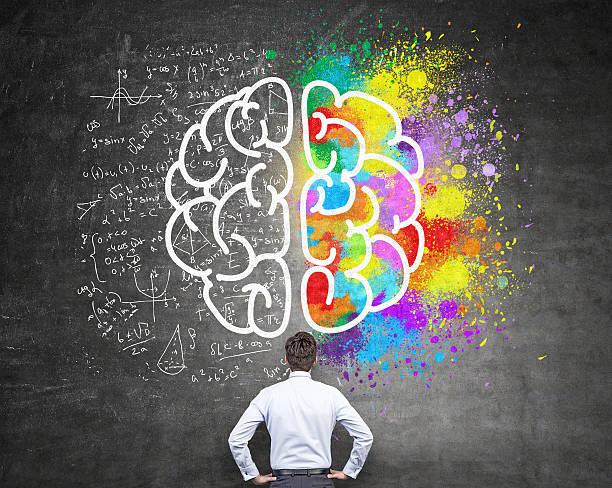 Analytical and creative thinking stock photo