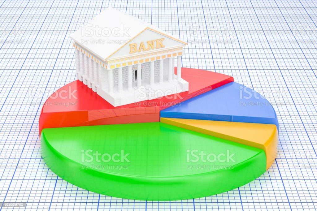Analytical Banking concept, 3D rendering stock photo