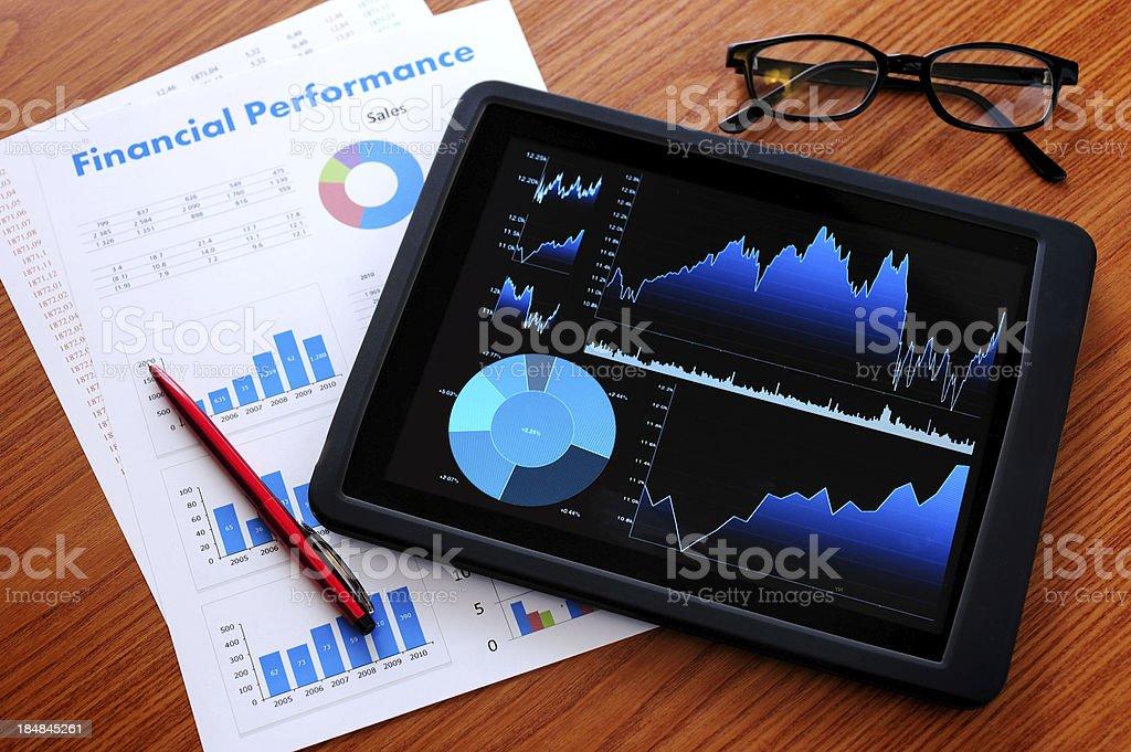 Analyze with digital tablet royalty-free stock photo