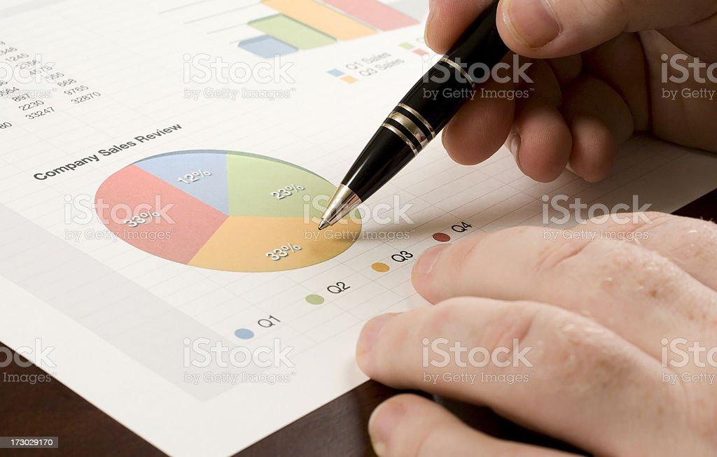 Analyzing a Pie Chart royalty-free stock photo