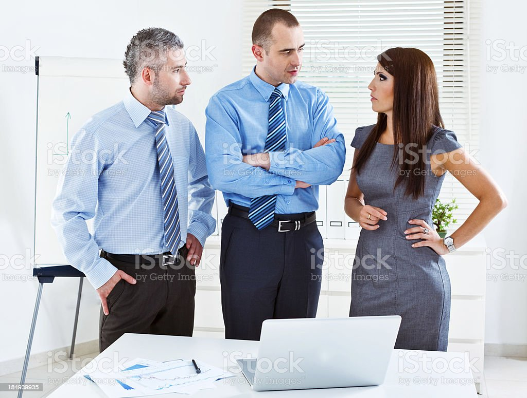 Analyzing a project royalty-free stock photo