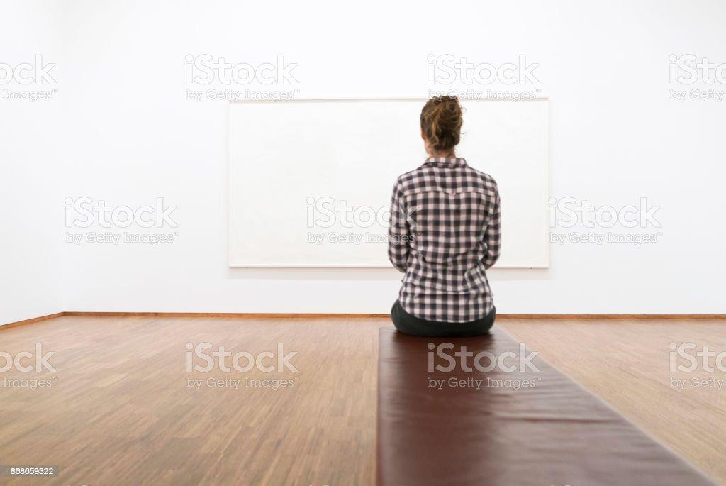 Analyzing A Work Of Art stock photo