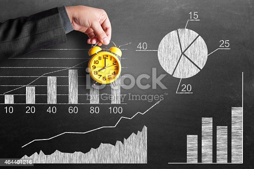istock Analyzing business growth report 464401216