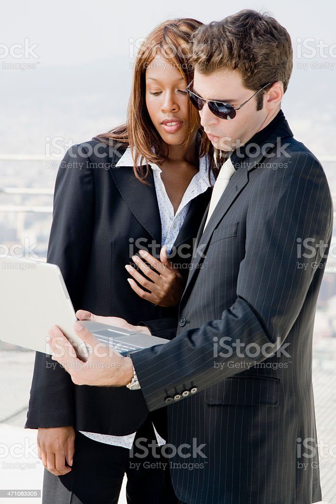 analyzing business team royalty-free stock photo
