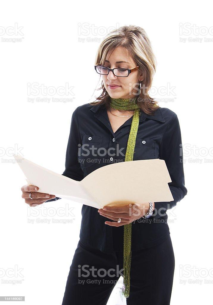 Analyzing businesswoman royalty-free stock photo