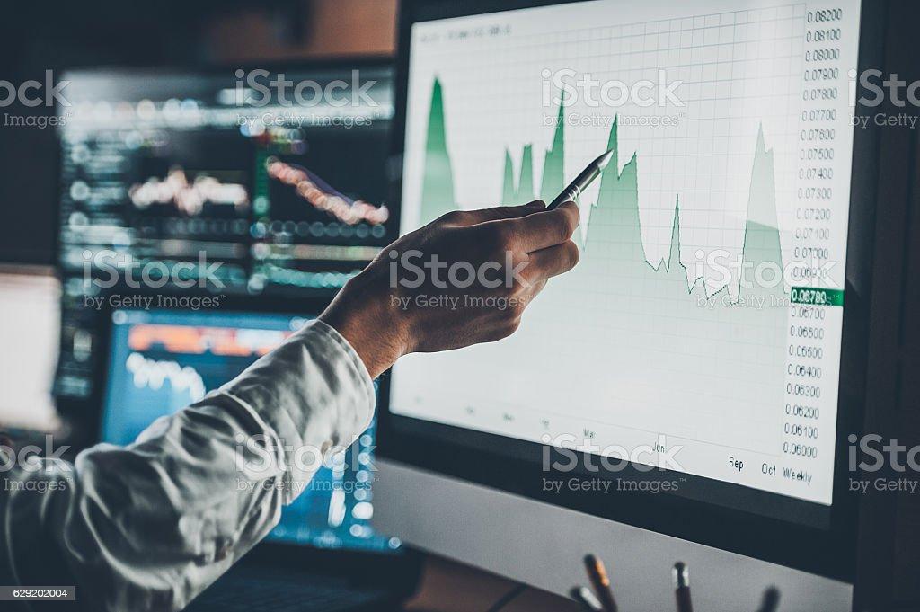 Analyzing data. royalty-free stock photo