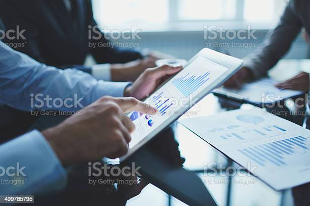 Analyzing Electronic Document Stock Photo - Download Image Now