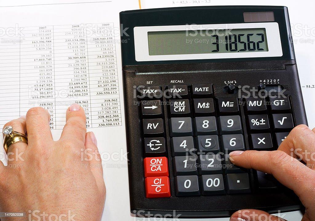 Analyzing financial data royalty-free stock photo