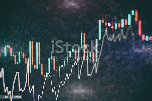 istock analyzing from charts and graph to find out the result in trading market. 1131748589