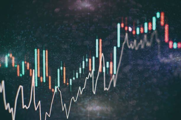 analyzing from charts and graph to find out the result in trading market. Working set for analyzing financial statistics and analyzing a market data. stock certificate stock pictures, royalty-free photos & images