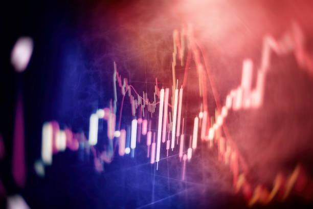 ticaret piyasasında analiz. Mali istatistikleri analiz etmek ve piyasa verilerini çözümlemek için çalışma seti. Veri çizelgeleri ve grafik sonuçları bulmak için analiz. stok fotoğrafı