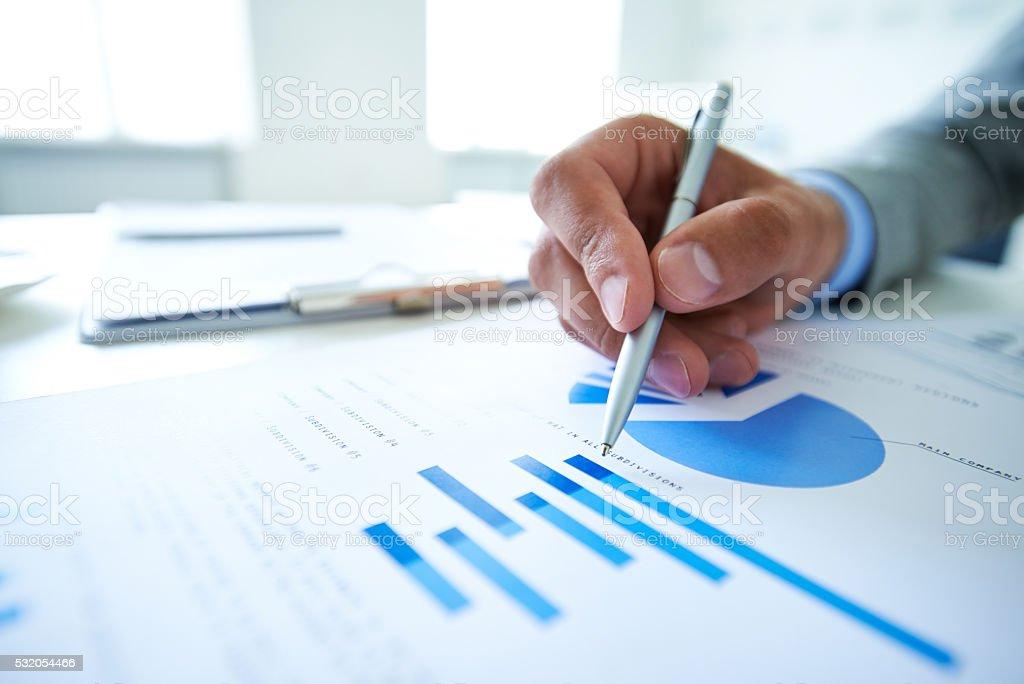 Analyzing market stock photo