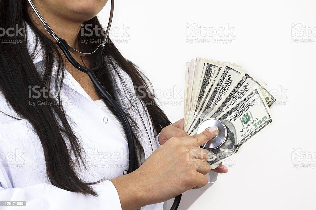 Analyzing money royalty-free stock photo