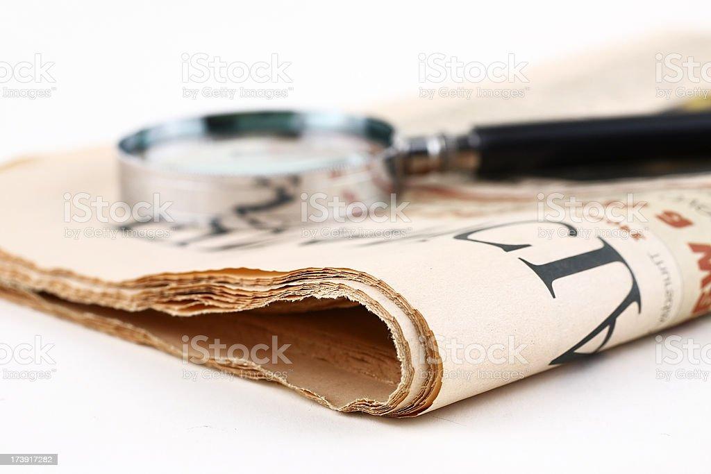 Analyzing news royalty-free stock photo