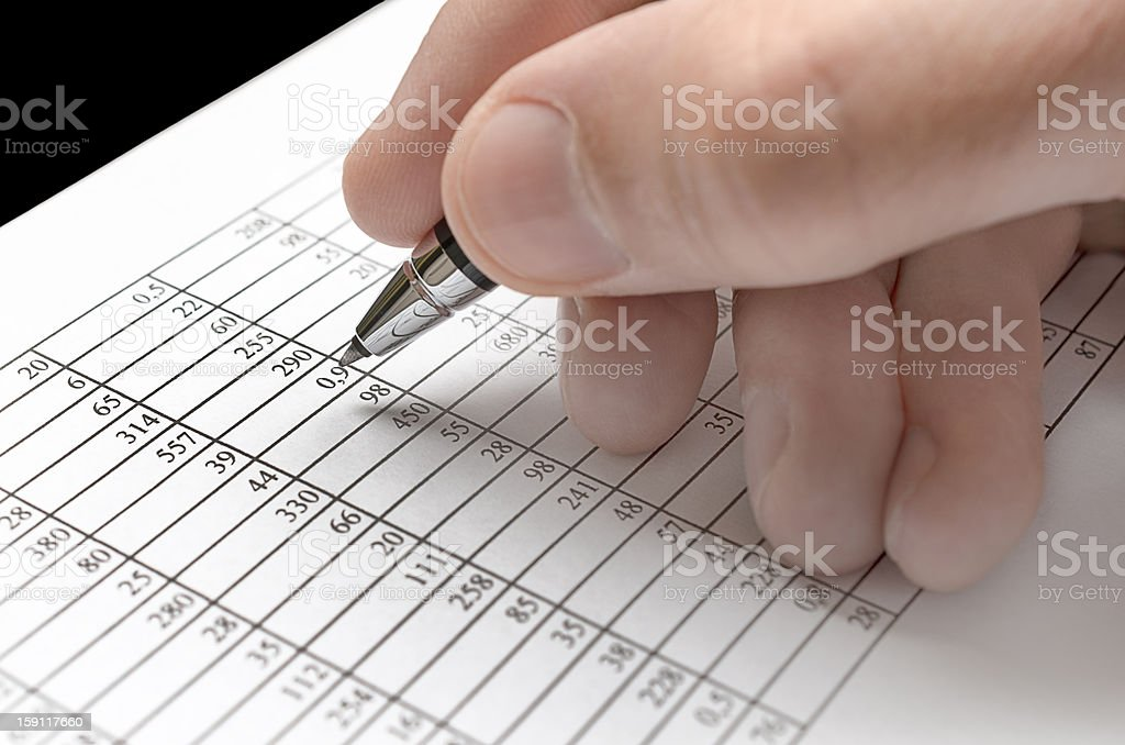Analyzing numbers royalty-free stock photo
