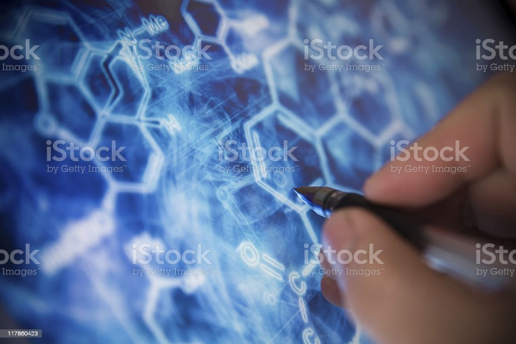 Analyzing royalty-free stock photo