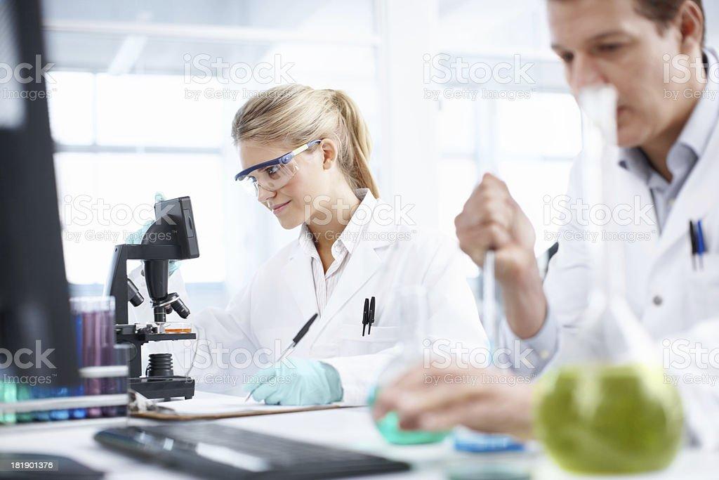 Analyzing samples royalty-free stock photo