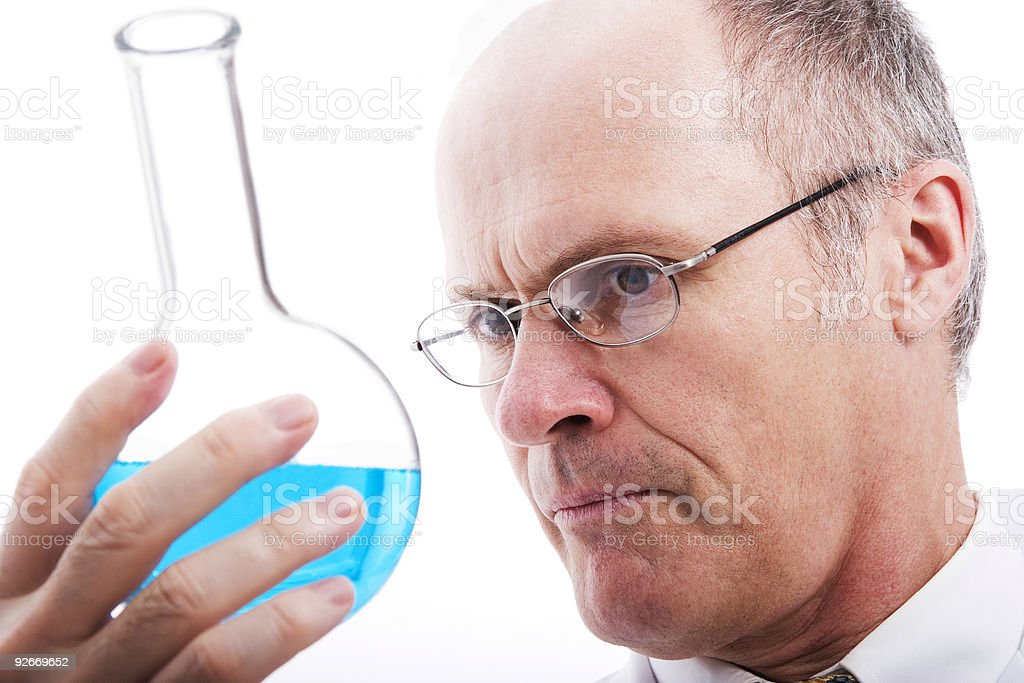 Analyzing scientist, professional royalty-free stock photo
