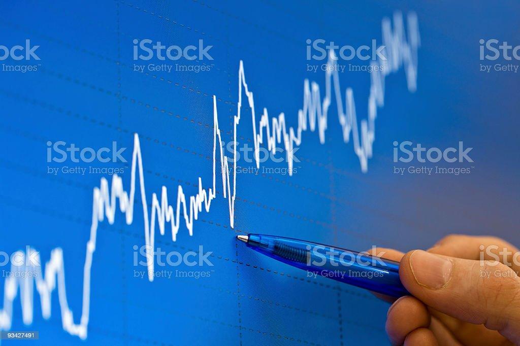 analyzing stock charts royalty-free stock photo