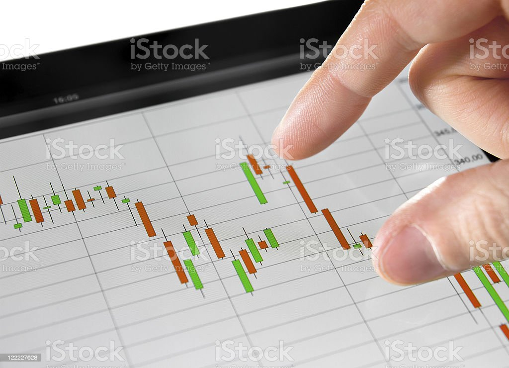Analyzing Stock Market Chart royalty-free stock photo