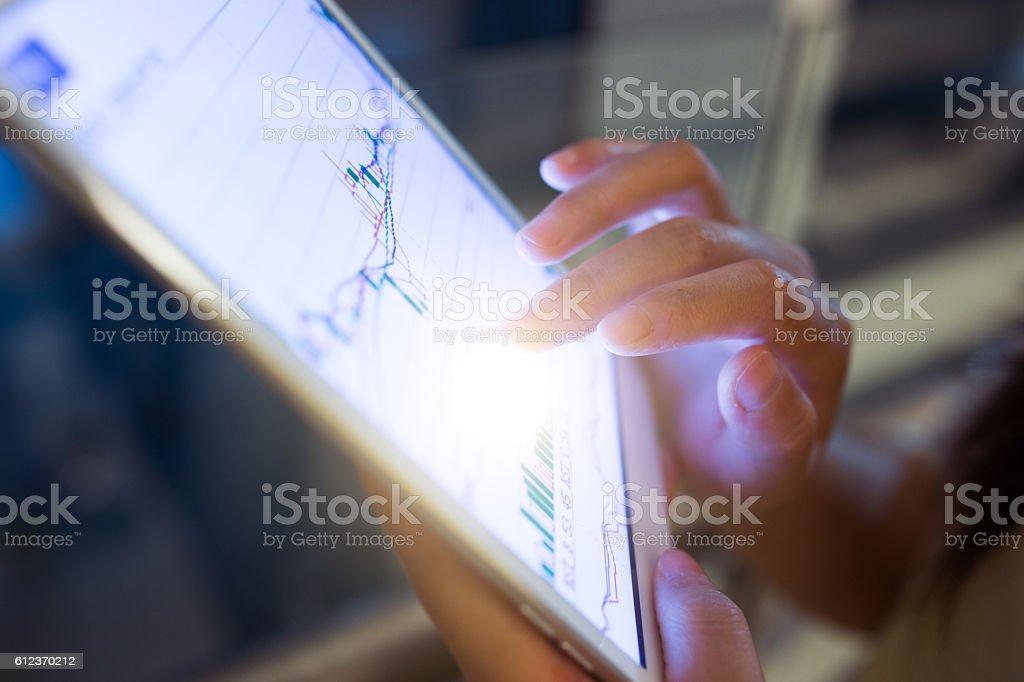 Analyzing stock market stock photo