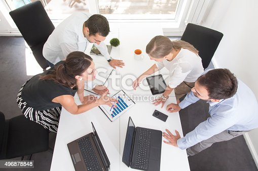 istock Analyzing The Day's Reports 496878848