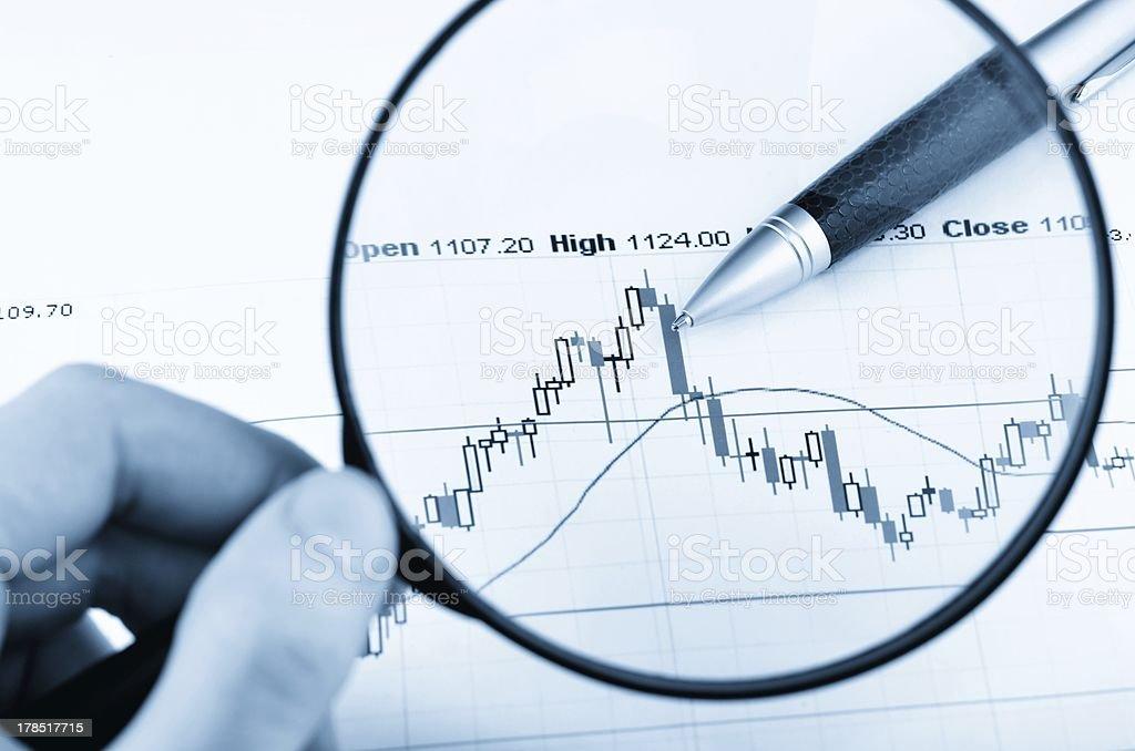 Analyzing the stock market royalty-free stock photo