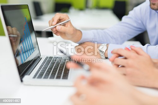 istock Analyzing The Success Trend 490991482