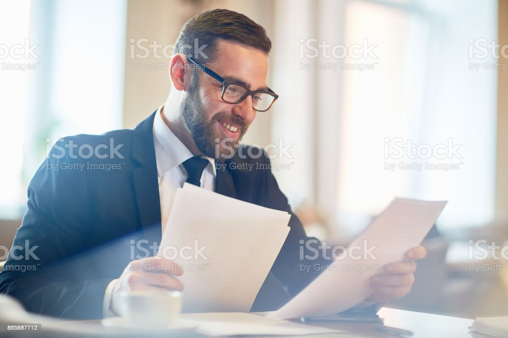 Analyzing Work Results stock photo