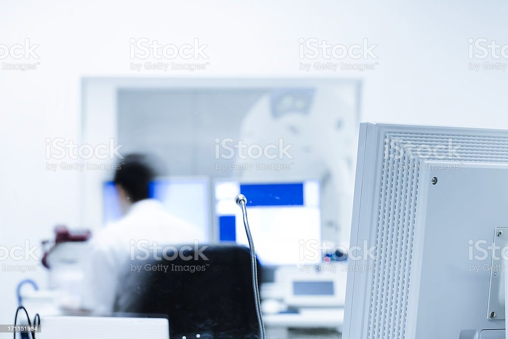 Analyzing x-ray or scann radiography in hospital royalty-free stock photo