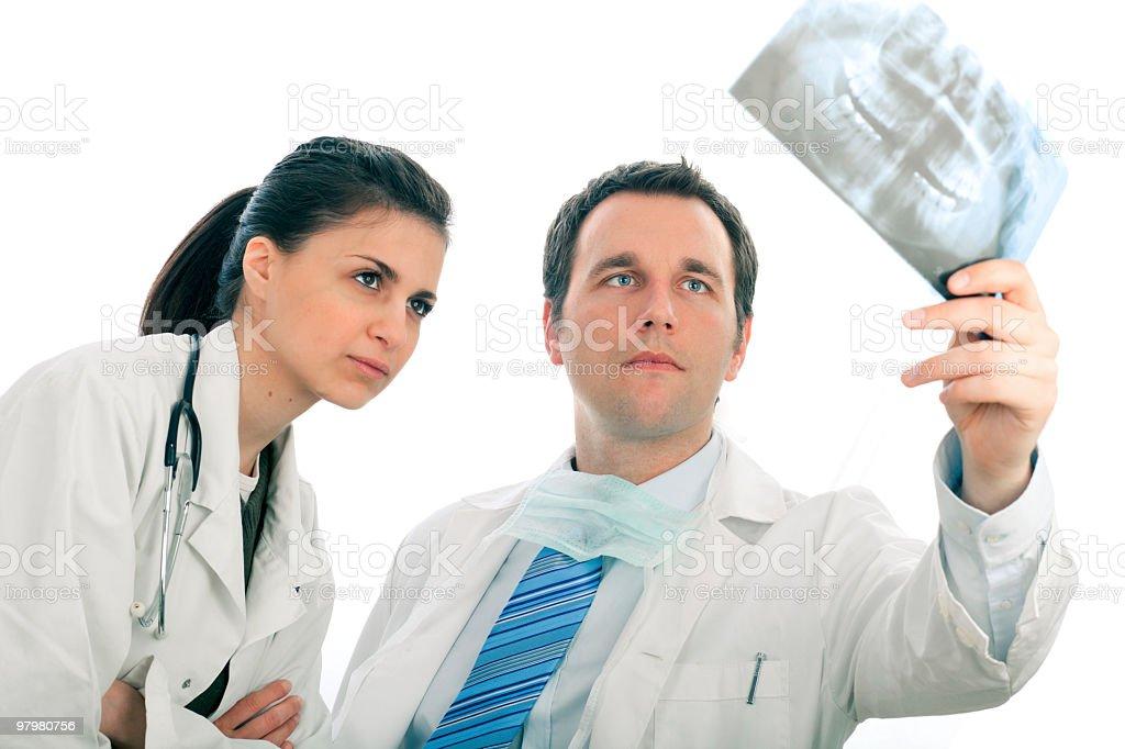 Analyzing x-ray royalty-free stock photo