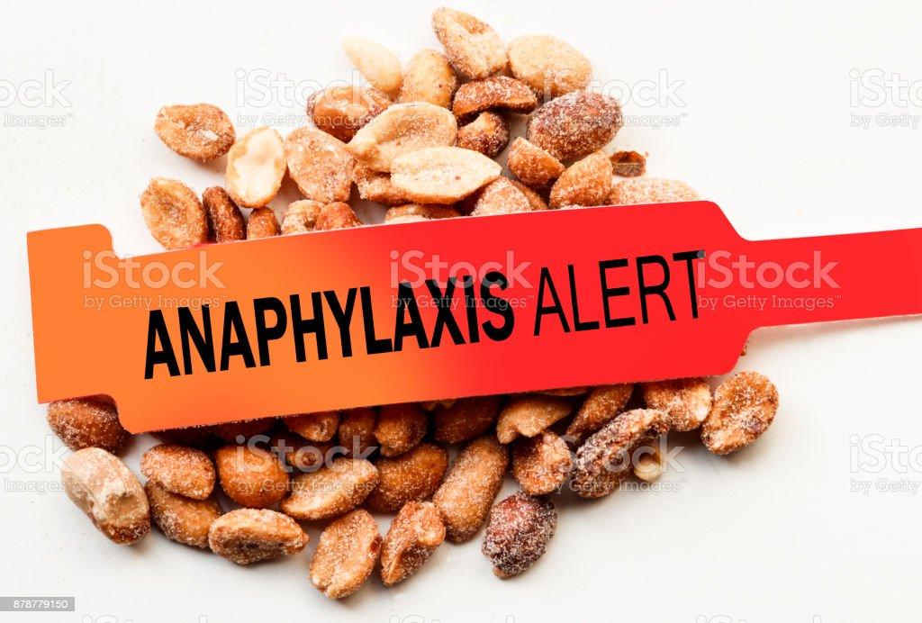 Anaphylaxis Alert Peanuts stock photo