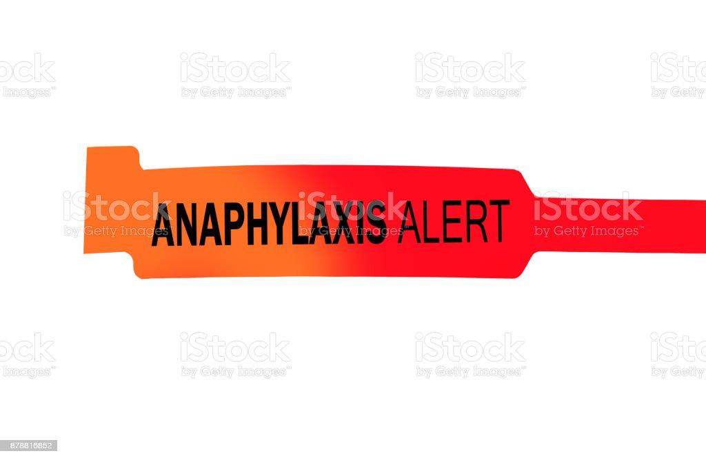Anaphylaxis Alert stock photo