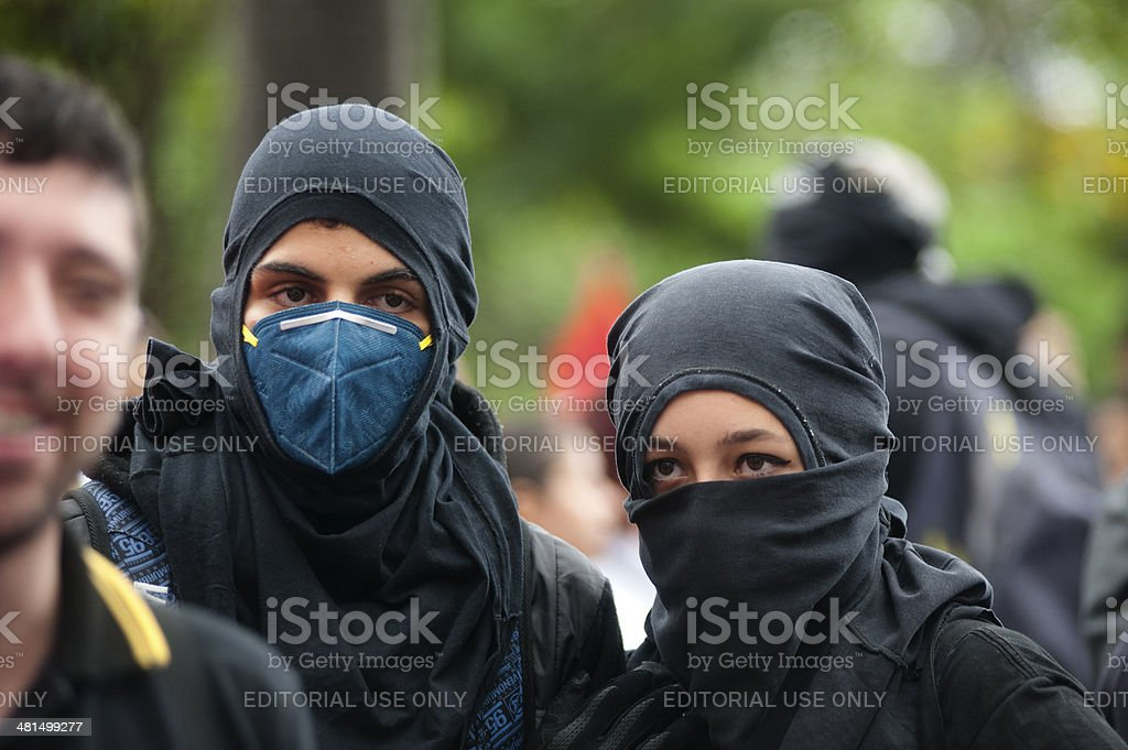 Anarchists royalty-free stock photo