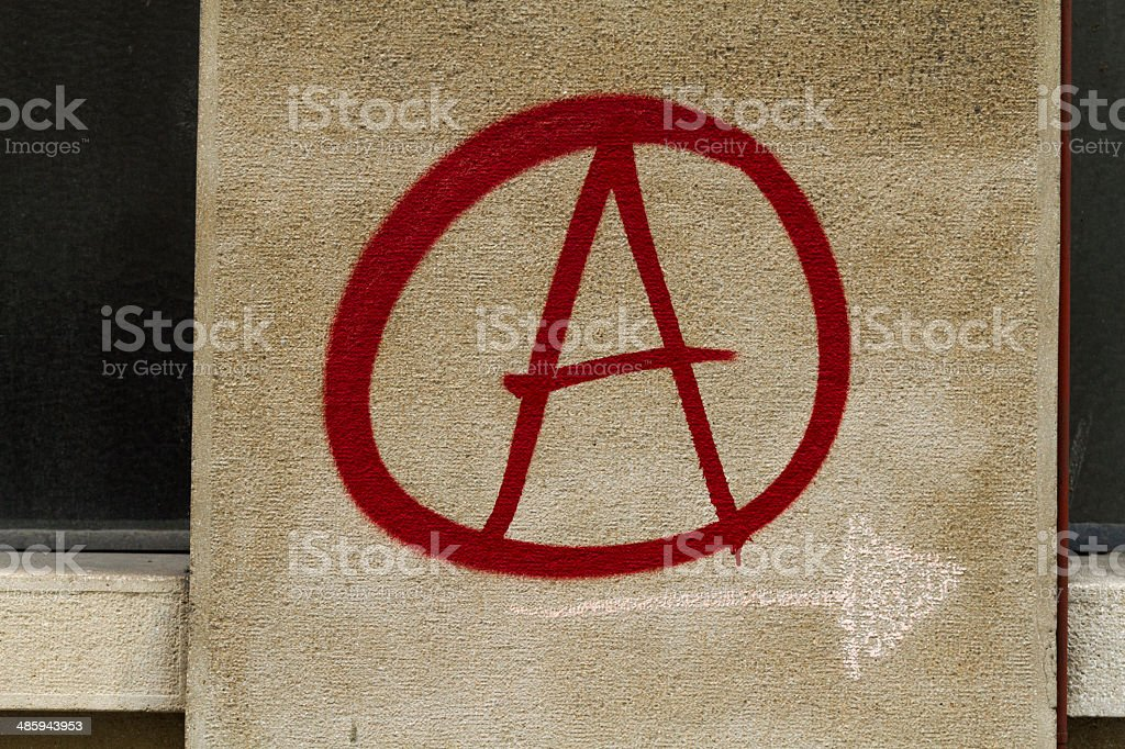 Anarchy Symbol Graffiti Stock Photo More Pictures Of Aerosol Can