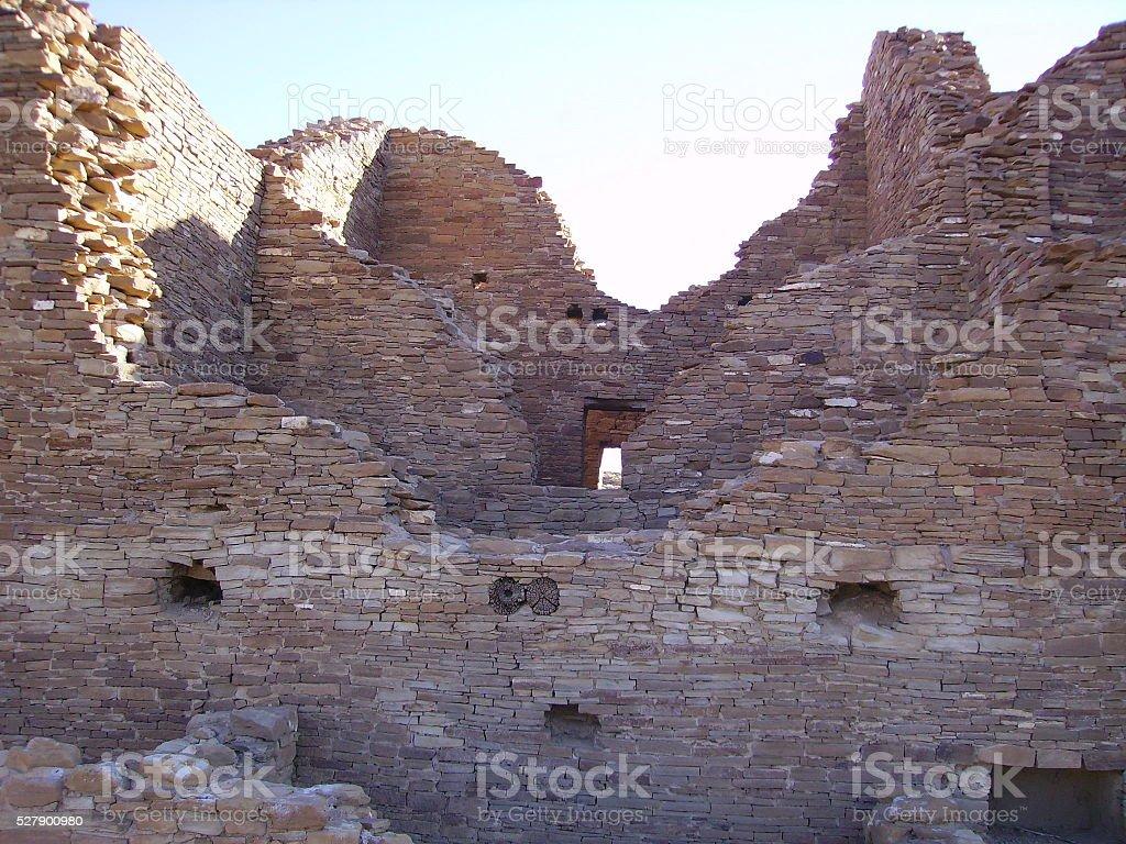 Anasazi Indian Ruin stock photo