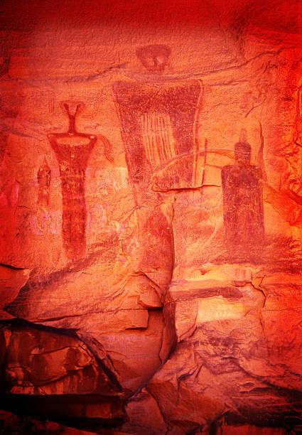 Anasazi Petroglyph stock photo