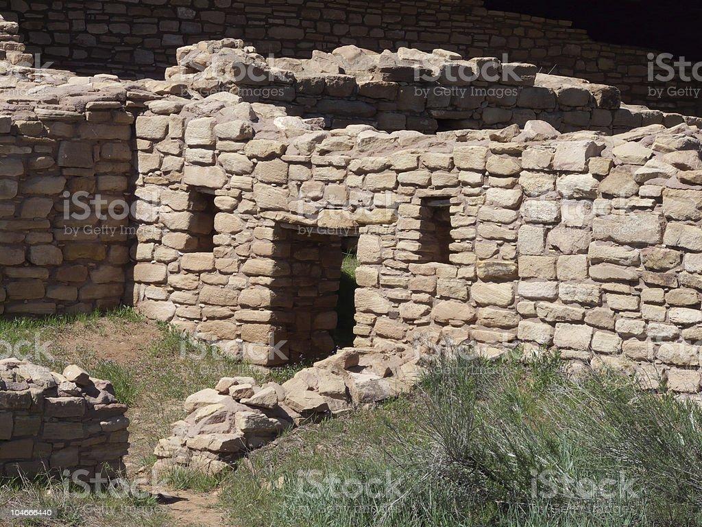 Anasazi pueblo ruins stock photo