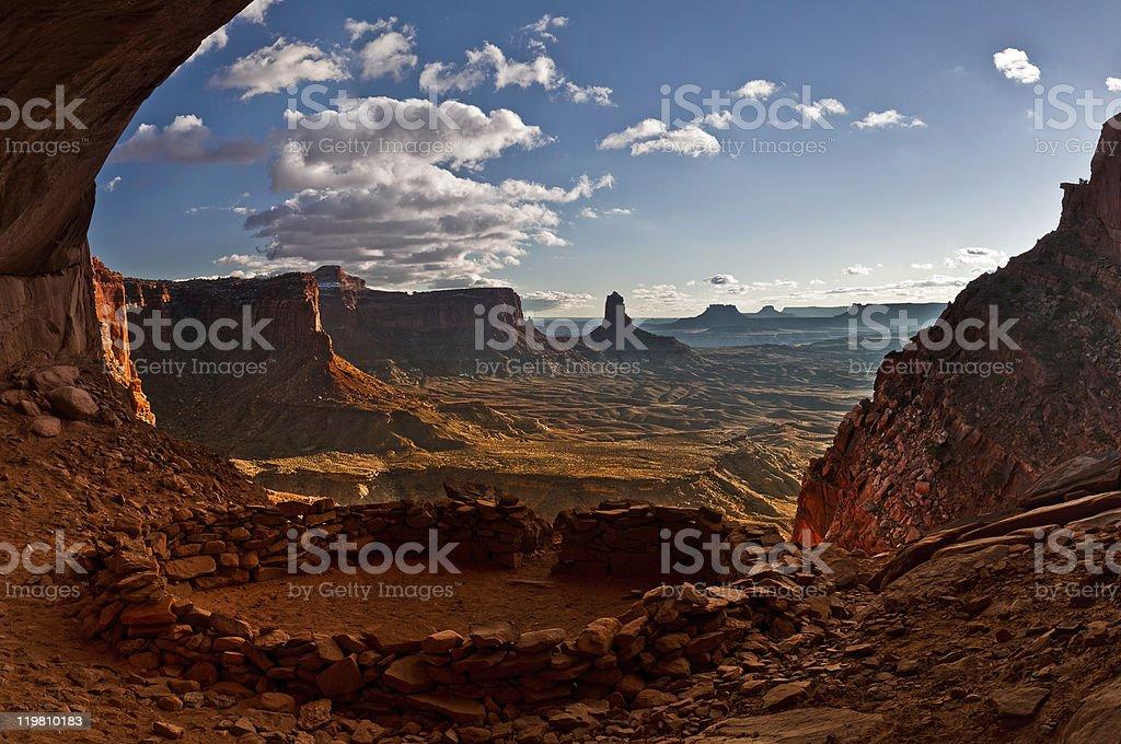 Anasazi ruins stock photo