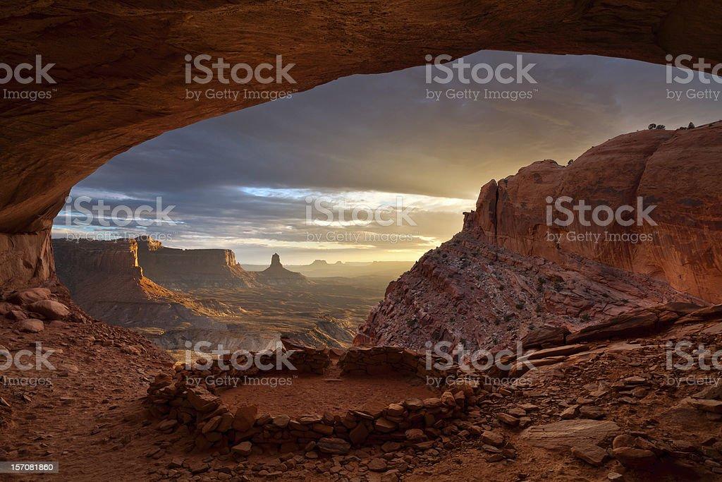 Anasazi ruins. stock photo