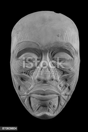 665487076istockphoto anatomical plaster mask of a human face 870609604